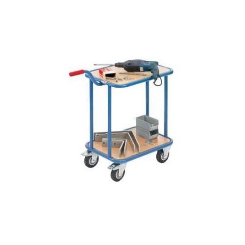 Carucior de transport cu cadru de otel si maner, 200kg, 860x450x195/770mm