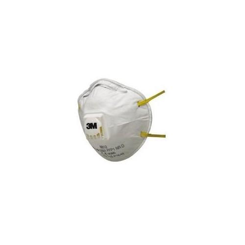 Masca de protectie 8812, cu supapa expiraretie FFP1, 3M - set 10 bucati