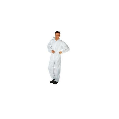 Combinezon de protectie de unica folosinta din PP, mar. XXL, alb